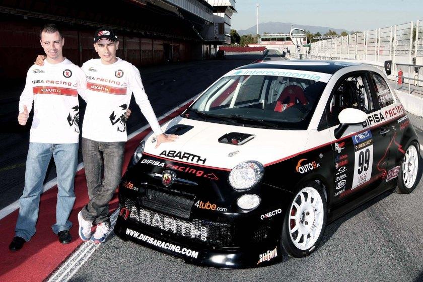 Jorge Lorenzo con el Abarth Asseto Corse