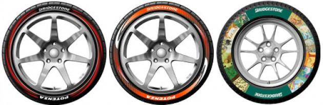 Distintos modelos de neumáticos personalizables con la nueva tecnología de Bridgestone