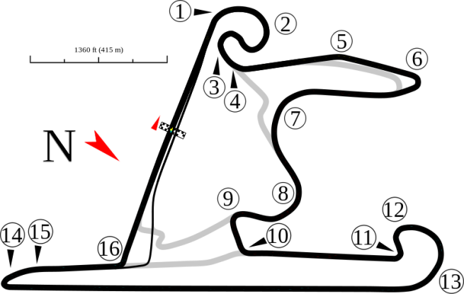 Diagrama del Circuito de Shanghai, donde se celebrará el GP de China
