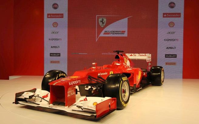 Presentación del Ferrari F2012 la pasada temporada