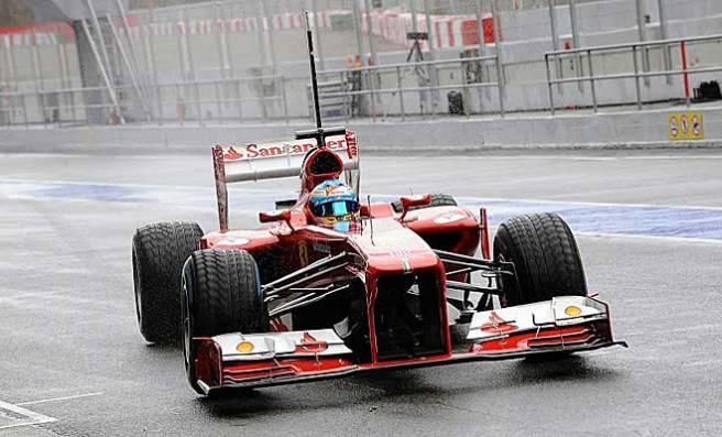 Fernando Alonso continúa con la puesta a punto de su Ferrari F138 pero hoy no tuvo su día