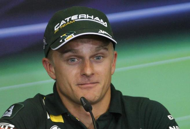 Kovalainen of Finland attends a news conference three days before the European F1 Grand Prix in Valencia