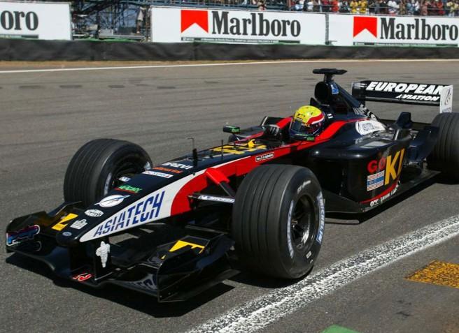 Mark Webber, en su debut  con Minardi el GP de Australia de 2002