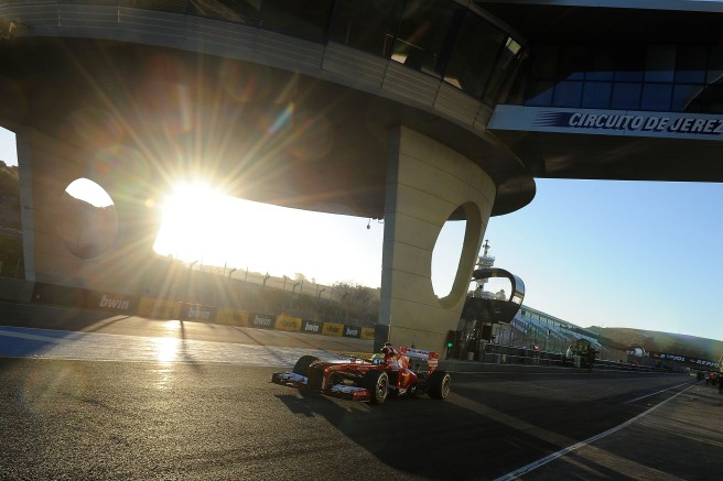 Felipe Massa, probando el Ferrari F138 durante los test de pretemporada en Jerez