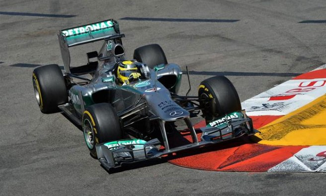 Nico Rosberg dominó a placer toda la carrera en Mónaco