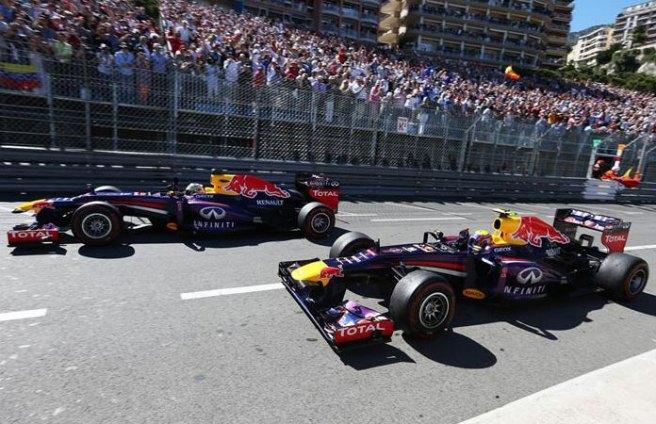 Los dos Red Bull brillaron con luz propia hoy en Montecarlo