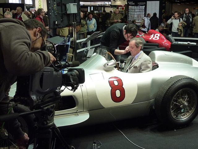 Imagen de la subasta del Mercedes W196 de Fangio