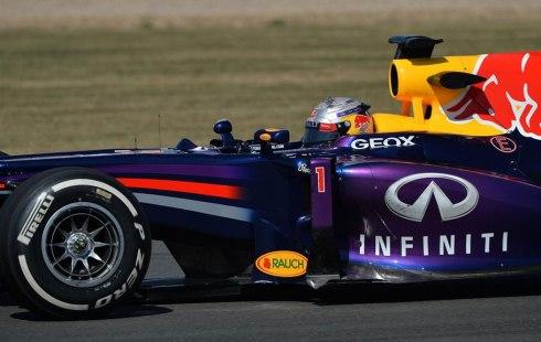 Sebastian Vettel, el más rápido del día en Silverstone