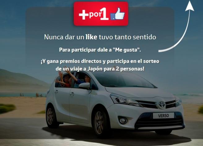 Imagen de la campaña +x1Like de Toyota