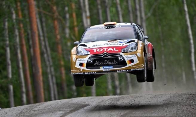 Dani Sordo, durante el último Rally de Finlandia