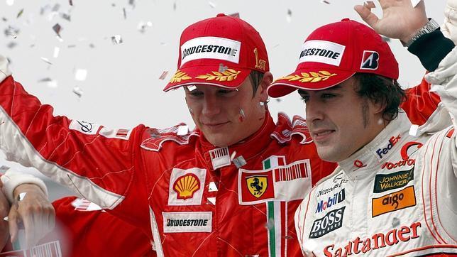 Kimi Raikkönen y Fernando Alonso, un dúo temible