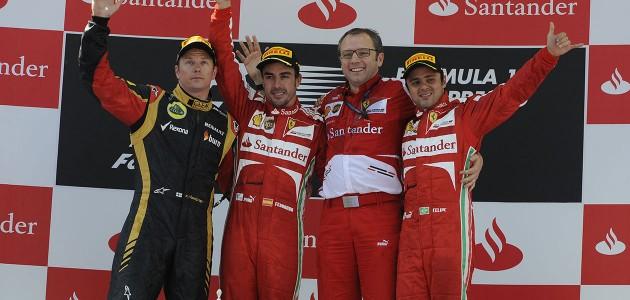 Kimi Raikkönen, nuevo compañero de Fernando Alonso en Ferrari desde 2014
