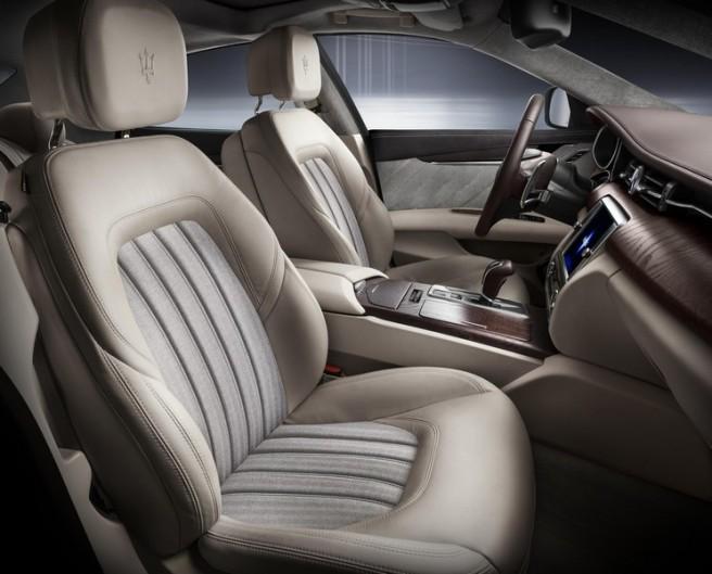 Detalle del interior del Maserati Quattroporte Ermenegildo Zegna Limited Edition