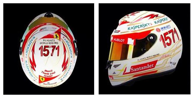Detalle del casco que sacará Alonso en la India