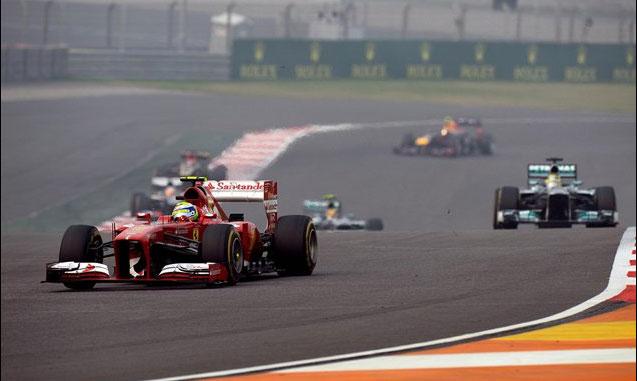 Buena carrera hoy de Felipe Massa en la India