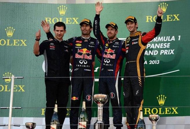 Sebastian Vettel, de nuevo en lo más alto del pódium por novena vez este año