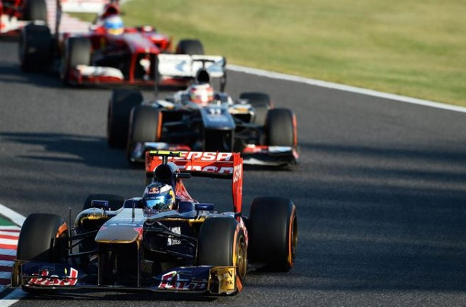 Daniel Ricciardo, protagonista del atasco del día en Suzuka