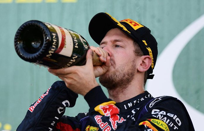 Sebastian Vettel, campeón del mundo de forma virtual