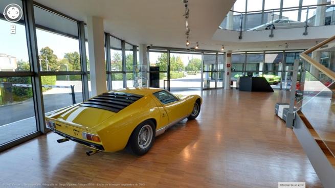 Imagen del Museo Lamborghini desde Google Street View