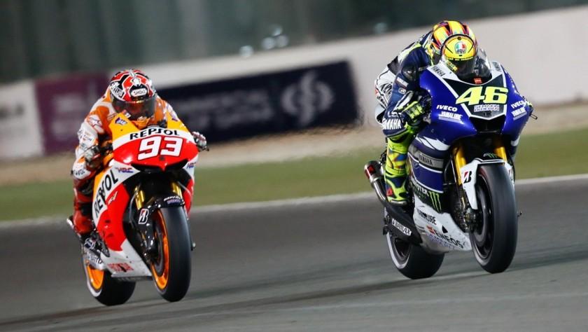 Marc Márquez y Valentino Rossi, protagonistas de la próxima temporada