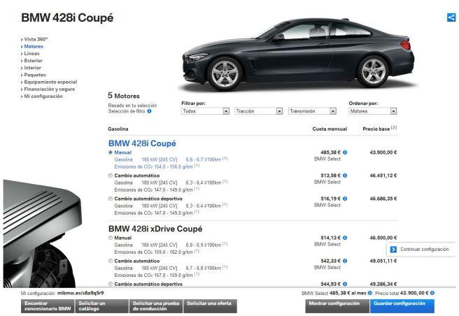El nuevo configurador, el corazón de la nueva web de BMW