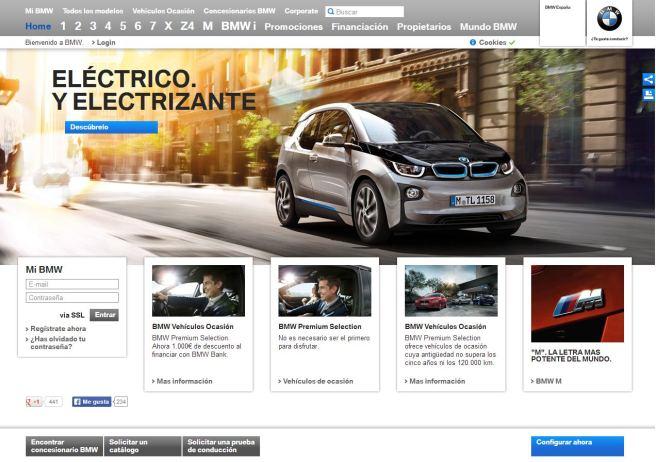 La nueva web de BMW ve la luz
