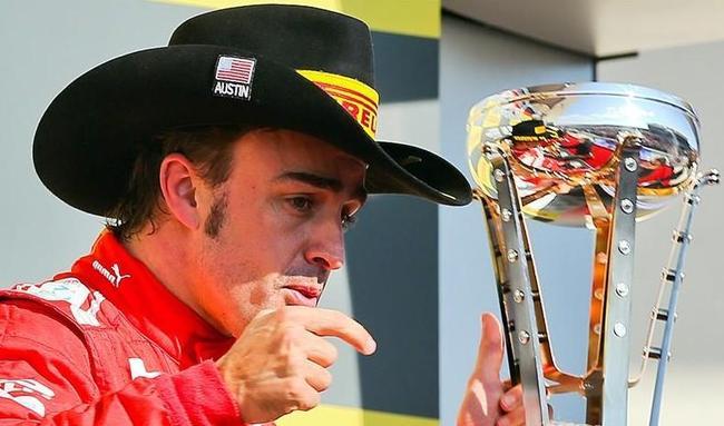 Fernando Alonso, el pódium del pasado GP de las Américas