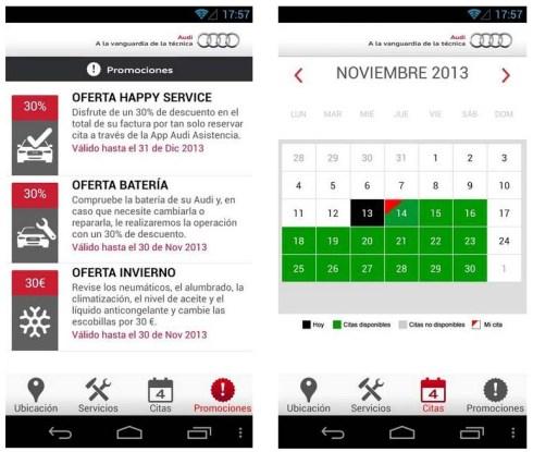 Audi lanza la versión 2.0 de su app Audi Asistencia