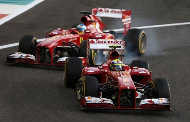 Saltaron chispas en el duelo directo entre Alonso y Massa