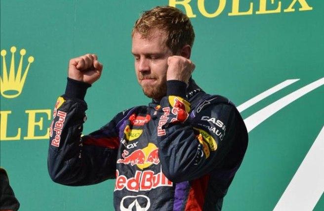 Sebastian Vettel, satisfecho tras batir la marca de Ascari y Schumacher