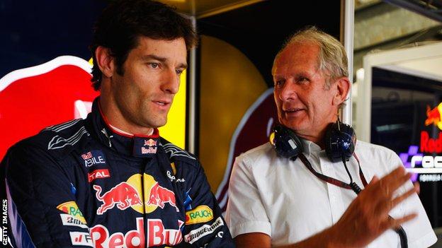 Helmut Marko y Mark Webber, como el agua y el aceite para el australiano
