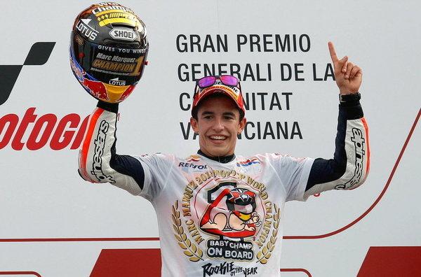 Marc Márquez, flamante campeón del mundo de MotoGP 2013