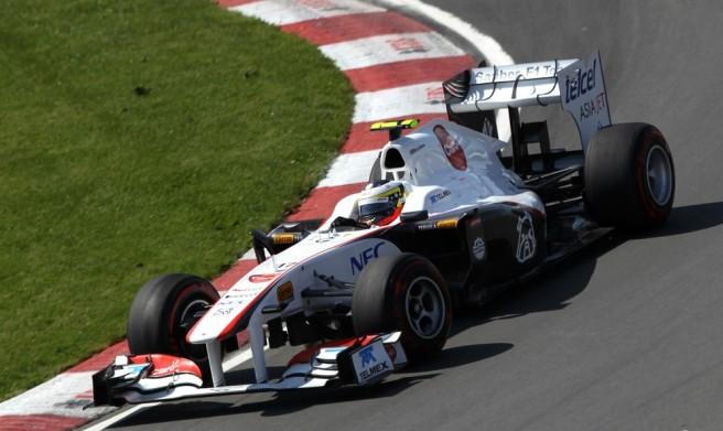 Pedro De la Rosa, sustituyendo a Pérez en Sauber en el GP de Canadá 2011