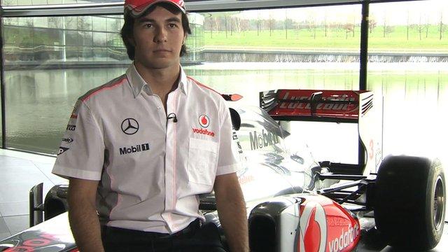 Sergio Pérez, el día de su presentación con McLaren