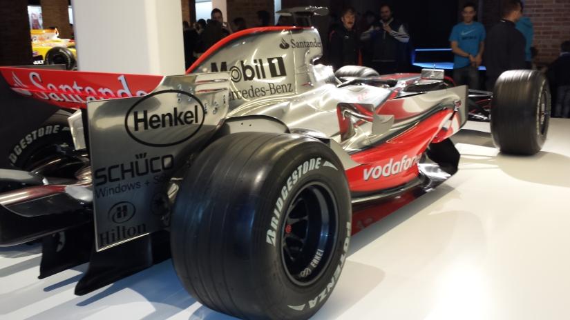 Trasera del McLaren MP4-22 de 2007