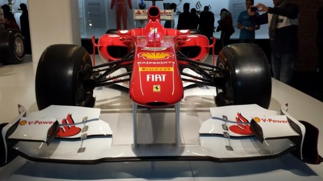 Detalle del Ferrari F10 de 2010