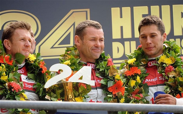 Allan McNish, en su última victoria en las 24 Horas de Le Mans