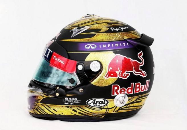 El casco de Vettel del GP de Alemania 2013, subastado por 86.000 euros