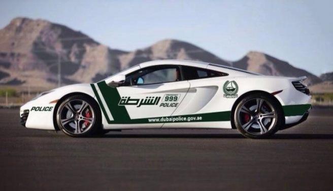 El espectacular McLaren MP4-12C de la Policía de Dubai