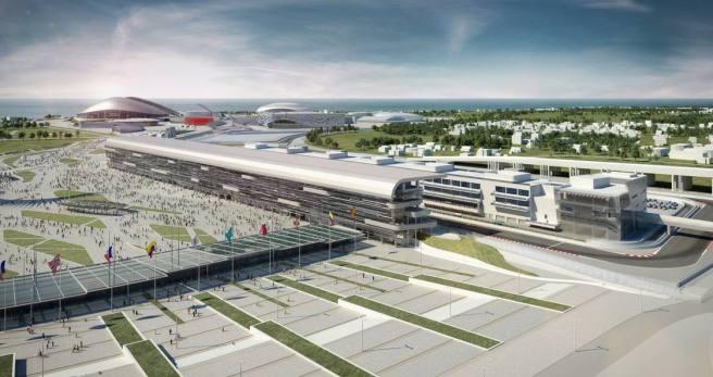 Imagen del nuevo Circuito de Sochi (Rusia)