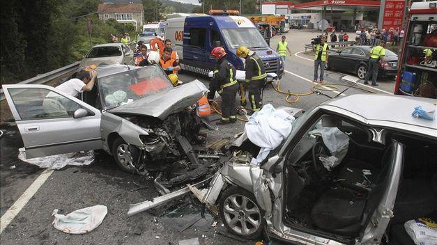 Espectacular descenso de los fallecidos por accidente en España en 2013