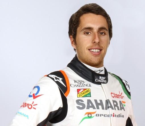 Daniel Juncadella, con los colores de Force India, su nuevo equipo