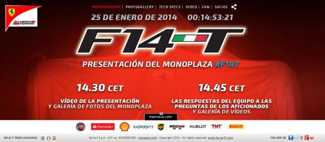 El Ferrari para 2014 se llamará finalmente F14 T