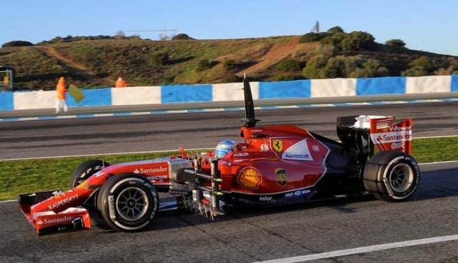 Fernando Alonso, a bordo del Ferrari F14 T