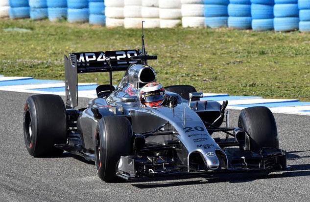 Kevin Magnussen, el más rápido del tercer día en Jerez