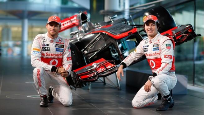 Imagen de la presentación del McLaren MP4-28 la temporada pasada
