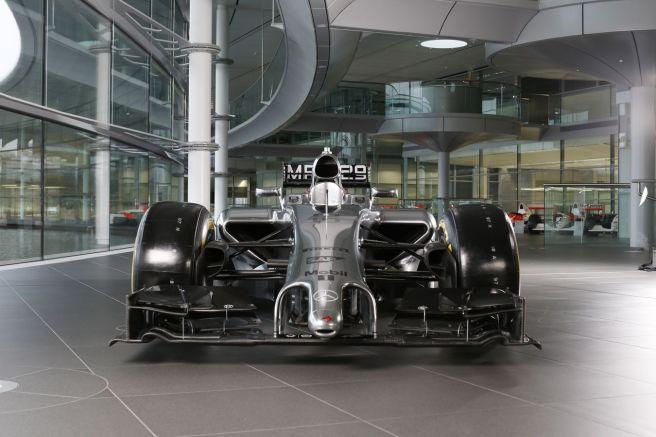 El morro del McLaren MP4-29, una nueva seña de identidad