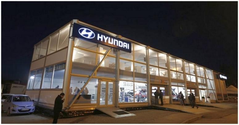 Espectacular motorhome de Hyundai para el WRC