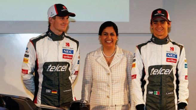 Monisha Kalterborn en la presentación del Sauber S32