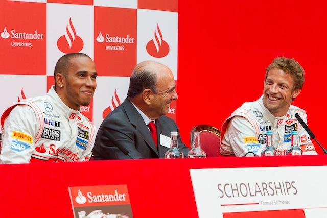 Emilio Botín, en un acto promocional de McLaren